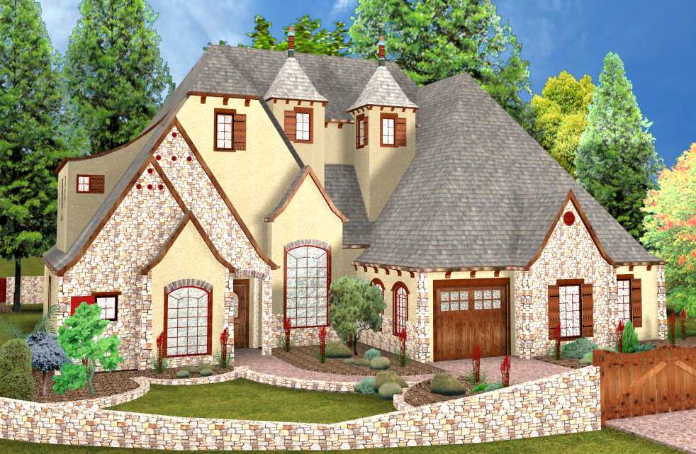 Fascinating storybook style house plans contemporary for Storybook homes plans